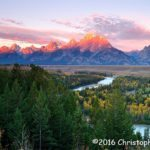1st Place Scenic - Sunrise On The Tetons by Christopher Taylor