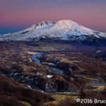 2nd Place & People's Choice Scenic - Sunset on Mt St Helens by Bruce Leonard