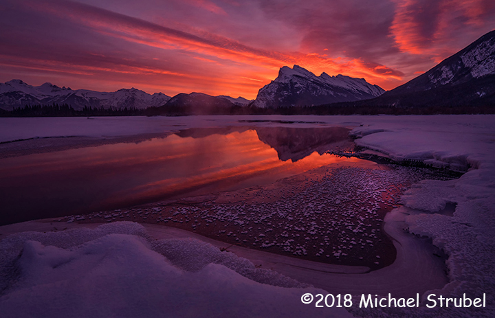 2nd Place Scenic - Mt Rundle from Lake Vermilion by Michael Strubel
