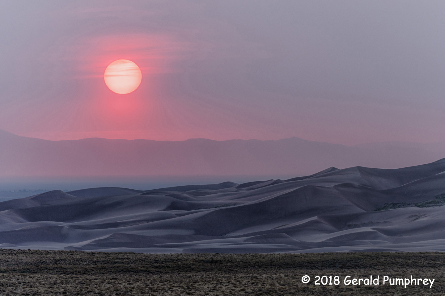 2nd Place Scenic - Great Sandunes Sunset by Gerald Pumphrey