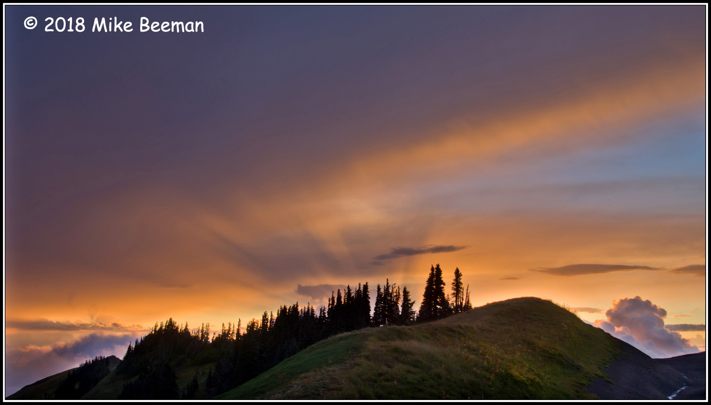 2nd Place Scenic - Grouse Ridge Sunset by Mike Beeman