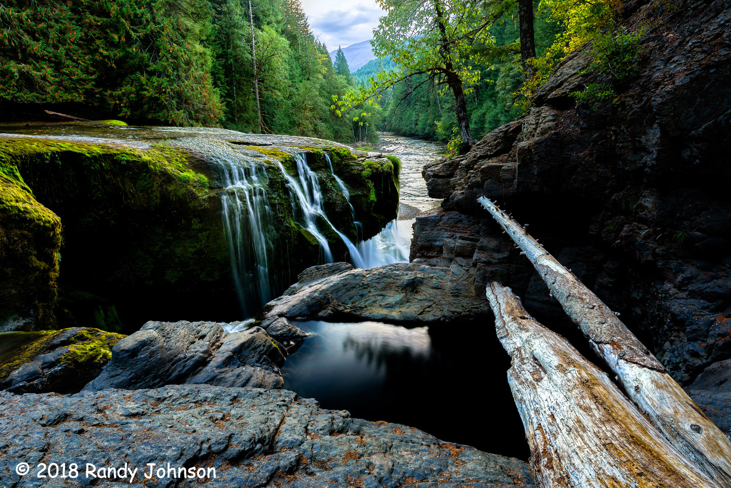 2nd Place Scenic - Lower Lewis River Falls by Randy Johnson